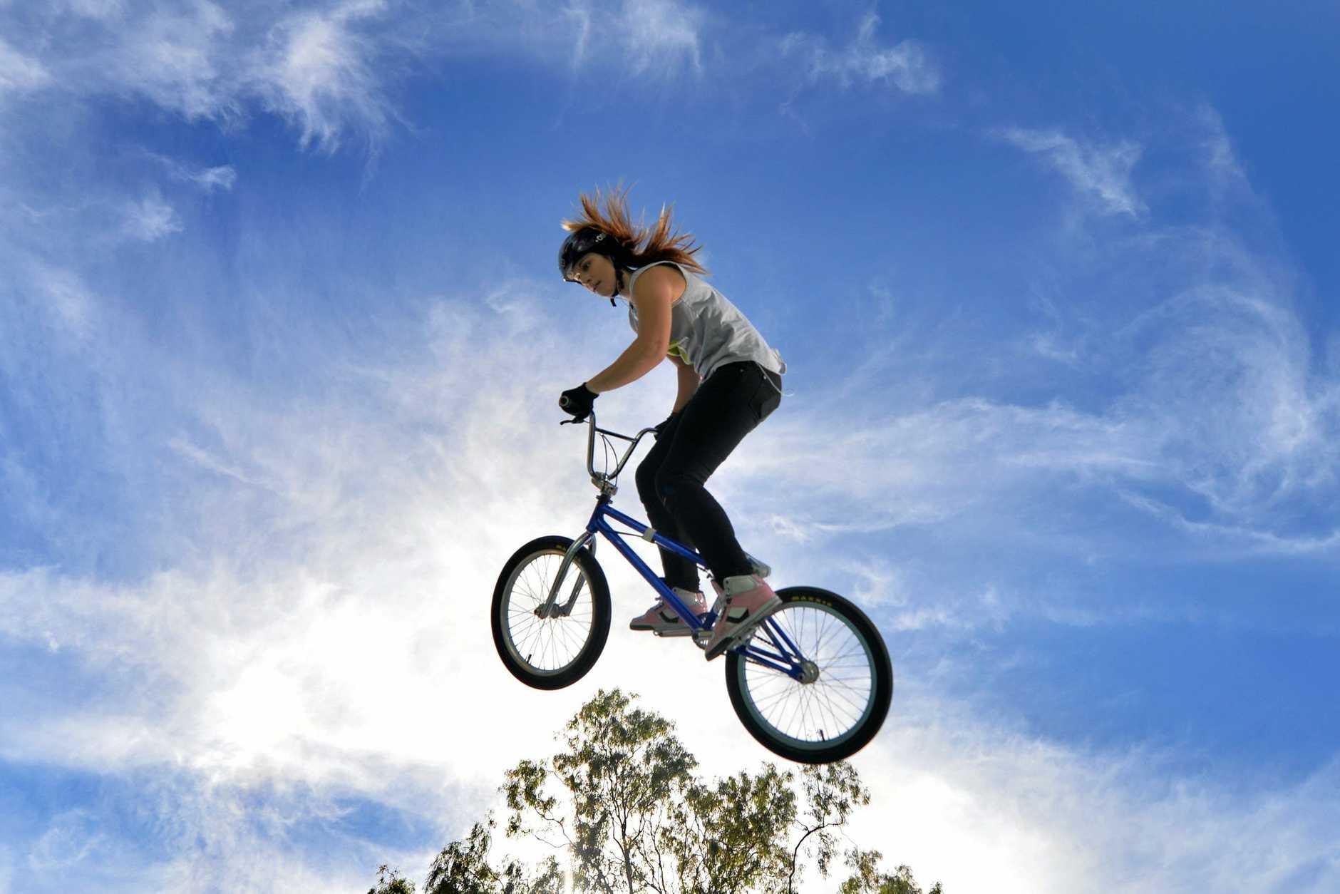 Natalya Diehm is reaching for the sky.