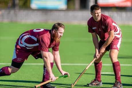 Hockey - Cooloola Heat vs Buderim - Jed Gaze and Dominic Stephens
