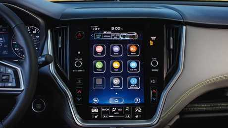 A tablet-like screen dominates the dash. Picture: Supplied.