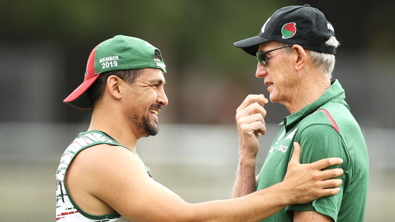 Wayne Bennett with Cody Walker. Photo by Mark Kolbe/Getty Images.