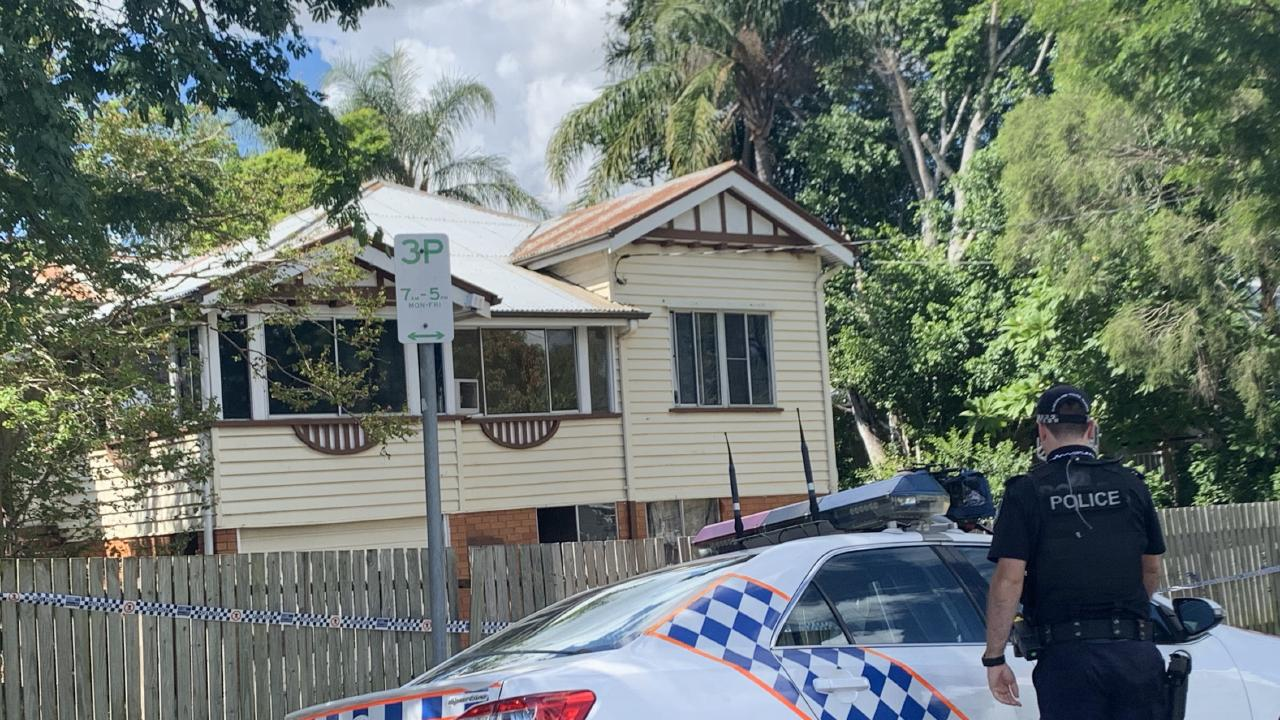 Police at the scene of a home in Oxley where they said an armed robbery occurred overnight Thursday. Picture: Elise Williams