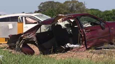 Courtney Matthews' car after the accident. Picture: A Current Affair