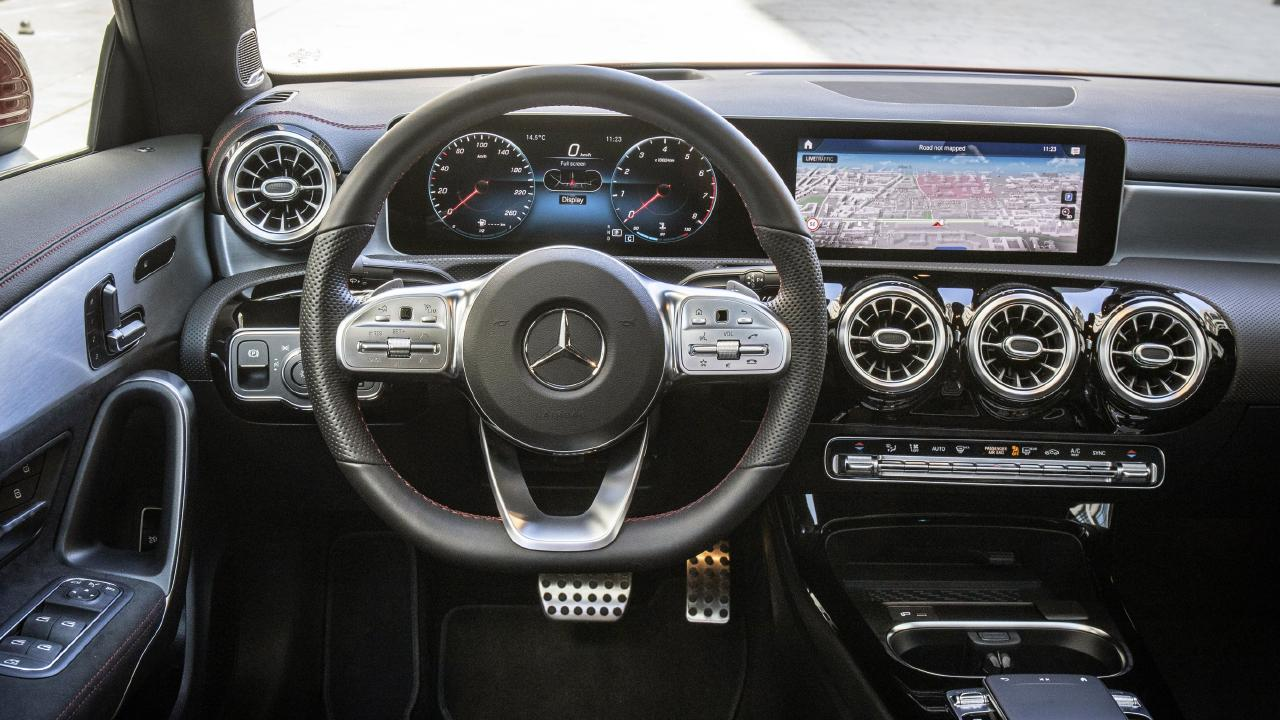 The CLA gets the brand's new digital screen layout.