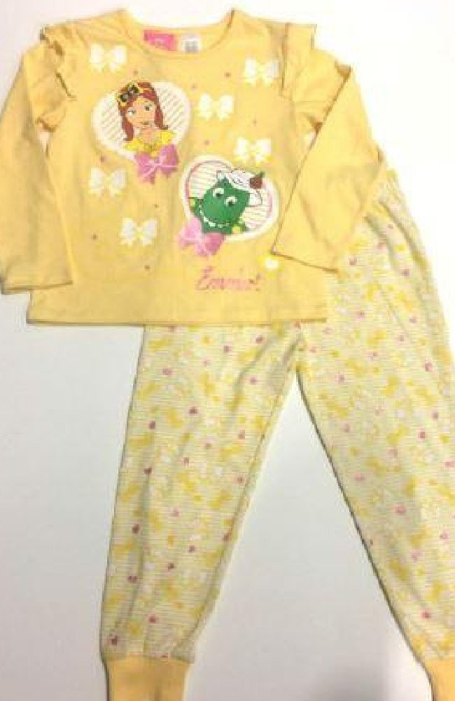 RECALL IMAGES: BIG W — Girls Frill Sleeve Pyjamas — Emma Wiggles