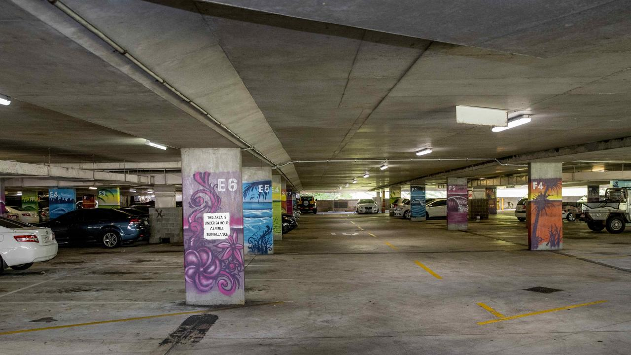The Bruce Bishop carpark in Surfers Paradise. Picture: Jerad Williams