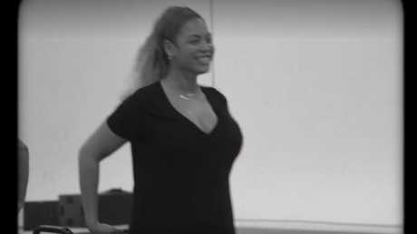 Beyonce's first Coachella rehearsal after giving birth.