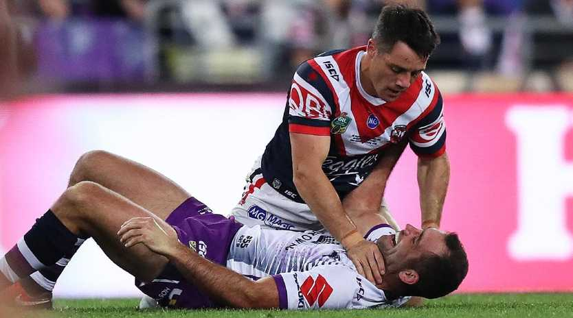 Cooper Cronk and Cameron Smith shared a heated moment in last year's grand final.