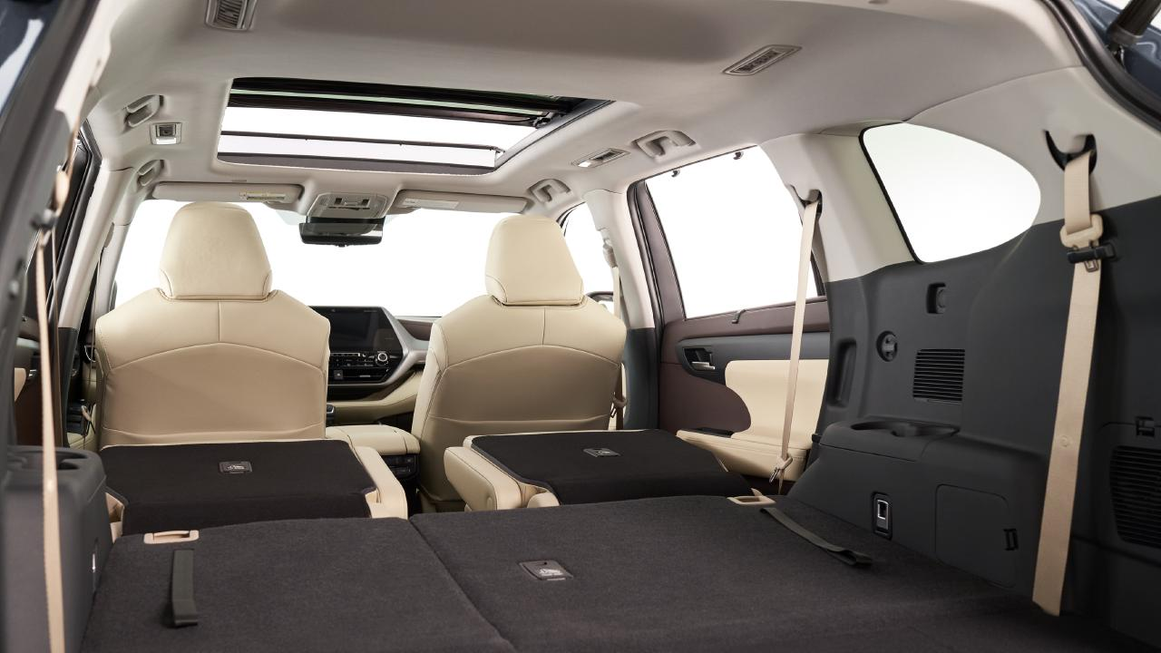 The Kluger is one of the most spacious cars in its class.