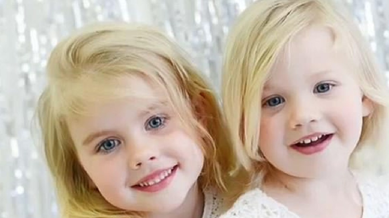 Elle Underhill, 4, and her sister Elaina, 2, were involved in a tragic car accident in 2015 that claimed Elle's life. Picture: A Current Affair