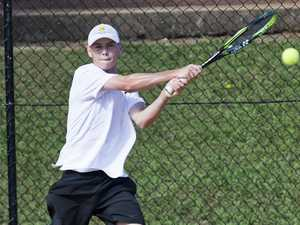 Riley Morrison. Easter Gold Cup tennis. Friday, 19th