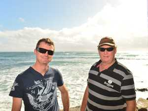 Dave Walker and Glen Jameson at Moffat Beach for the