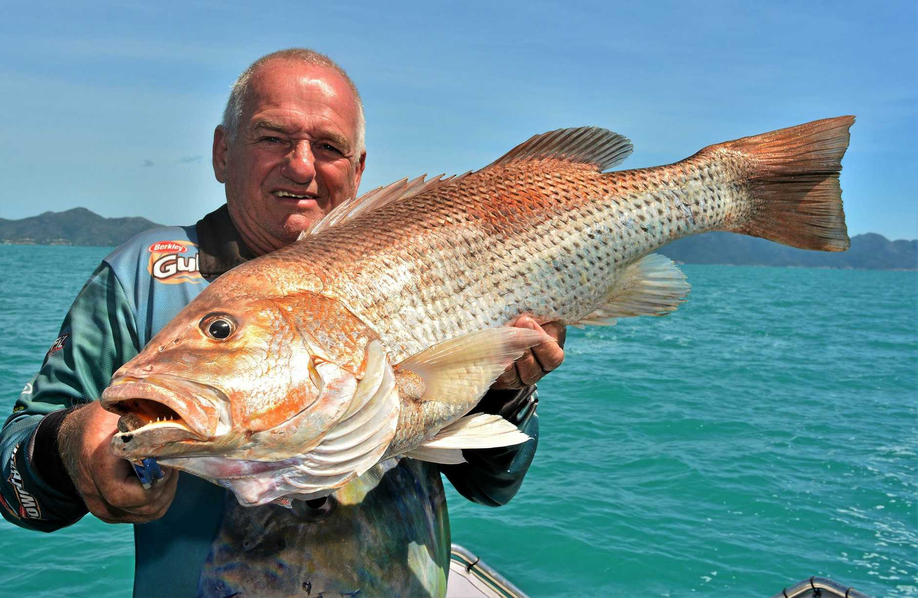 BIG CATCH: John Martinalo was rapt to catch this 78cm fingermark on a Reel Addiction Sport Fishing charter.