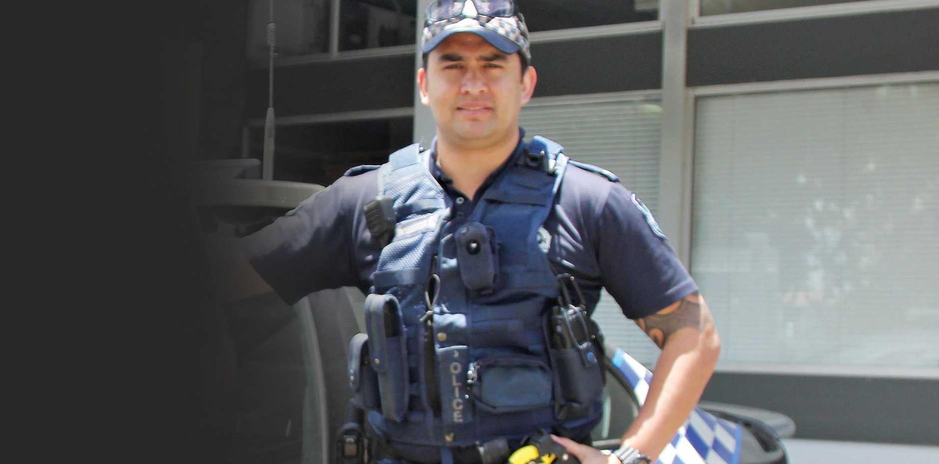 Proserpine police officer Manu Tenana.
