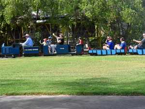 Families let off some steam at the Miniature Train Rides