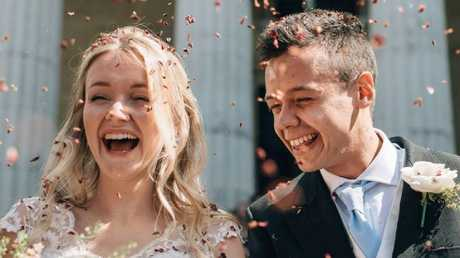 Milly and Toby Savill married in 2017. Picture: Facebook