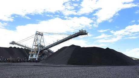 Half of Australians surveyed in a YouGov Galaxy poll say they support coal mining in Australia. Picture: AAP image/John Gass