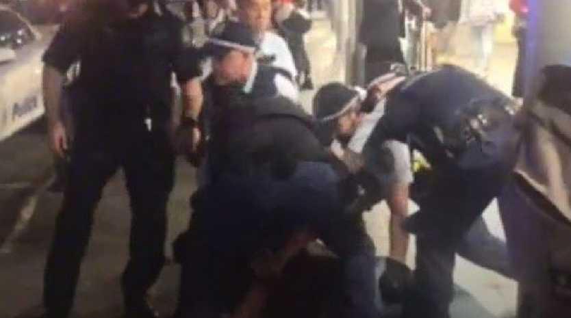 Man arrested after a police officer was stabbed at Central Station.