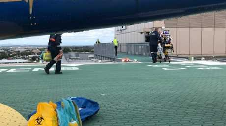 The boy was transferred to Queensland's Children's Hospital in Brisbane this morning. Picture: RACQ LifeFlight Rescue