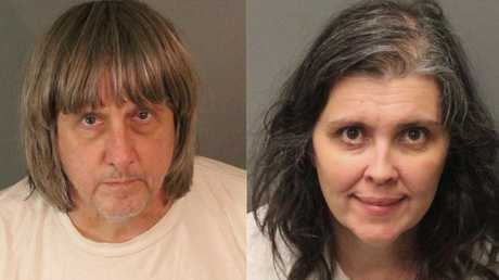 David Turpin and his wife Louise Turpin have pleaded guilty to multiple charges of abuse against their children. Picture: Riverside County Sheriff's Department/AP
