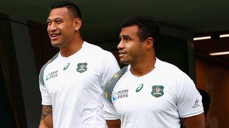 Genia remains close to Folau. Picture: Stu Forster/Getty Images