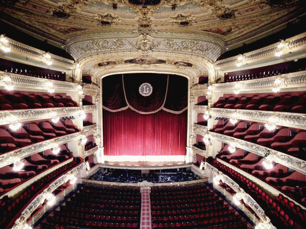 An interior view of Barcelona s Gran Teatre del Liceu which was later burned down in January 1994. Picture: AP