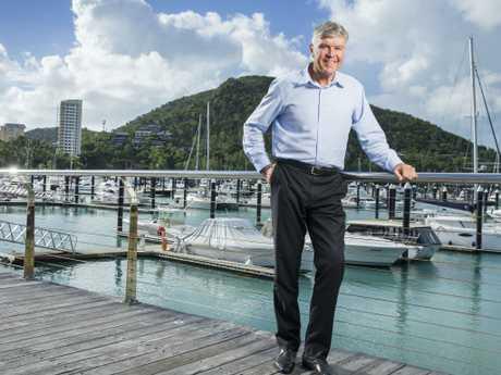 CEO of Hamilton Island Glenn Bourke at the Hamilton Island Marina. Picture: Lachie Millard
