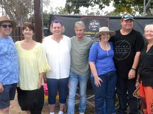 Shaun and Megan Benn of Gladstone; Jacqui and Wayne