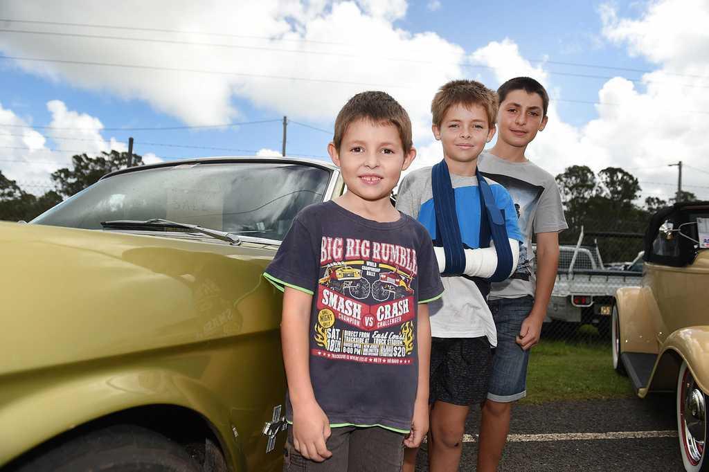 Image for sale: Australian Streed Rod Federation Nationals - Brothers 6yo William, 9yo Lochlan and 11yo Ashley Ross.