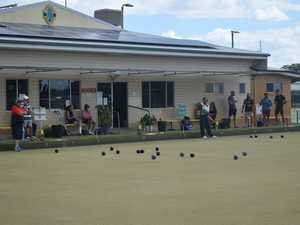 Competitors and spectators at the Chinchilla Bowls