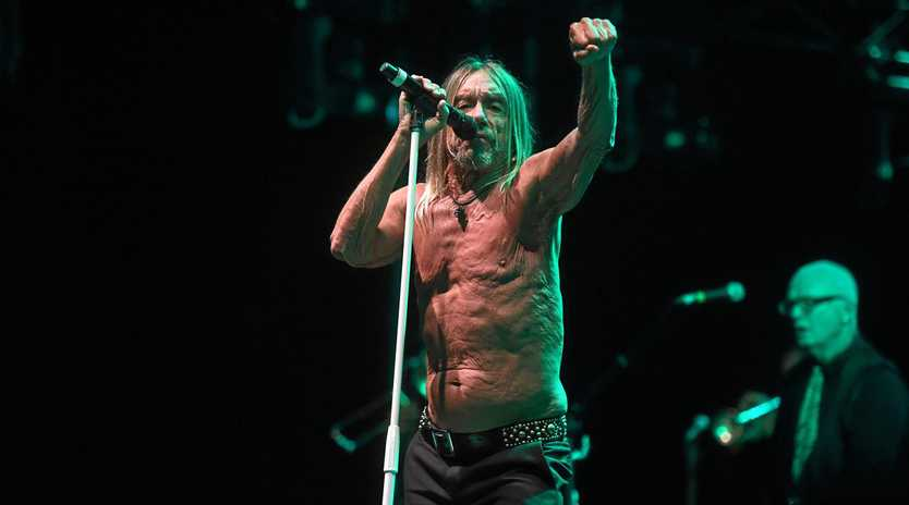 WITH GUSTO: American rocker Iggy Pop at the 30th Bluesfest Byron Bay 2019.