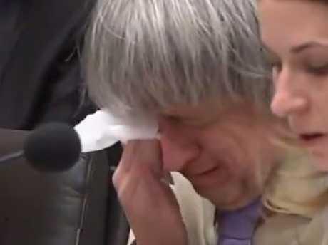 David Turpin breaks down in court.