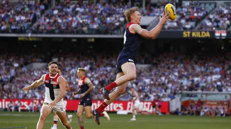 Clayton Oliver was the Demons' best player. Picture: AAP