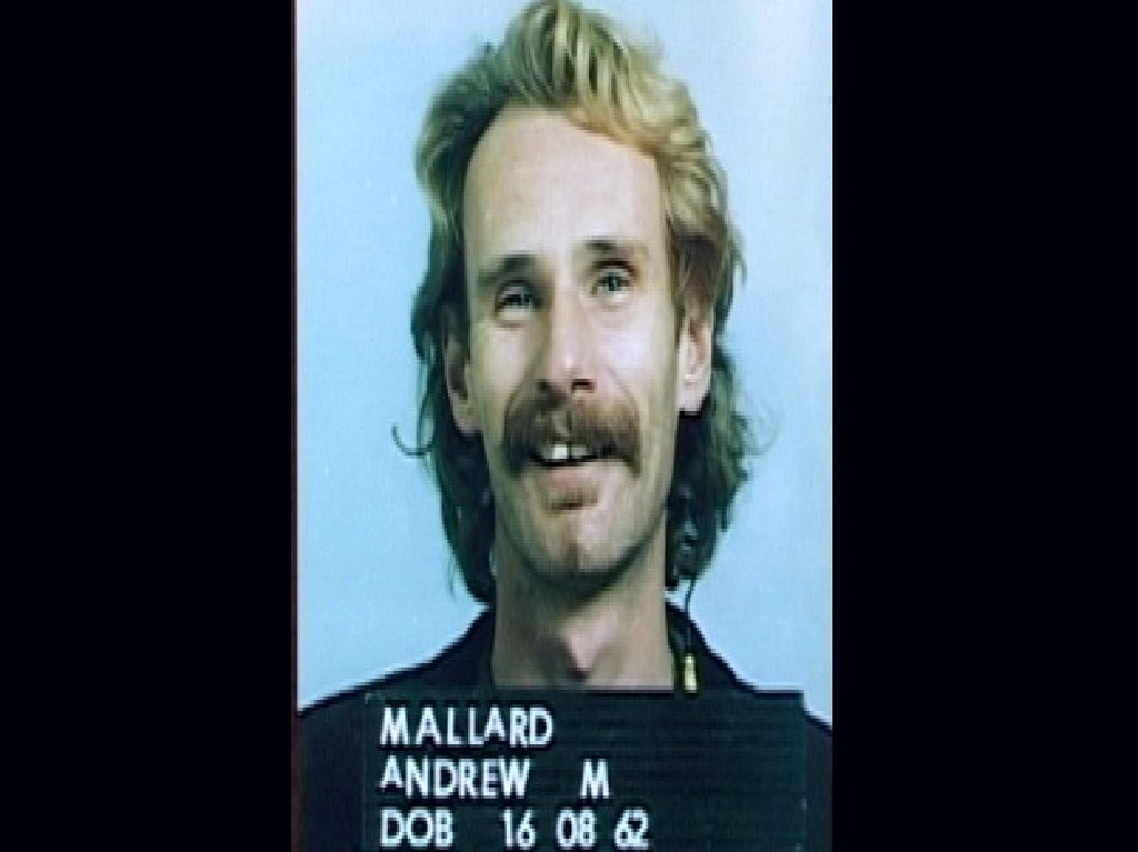Photograph of Andrew Mallard taken on the day of the 1994 murder of Pamela Lawrence.