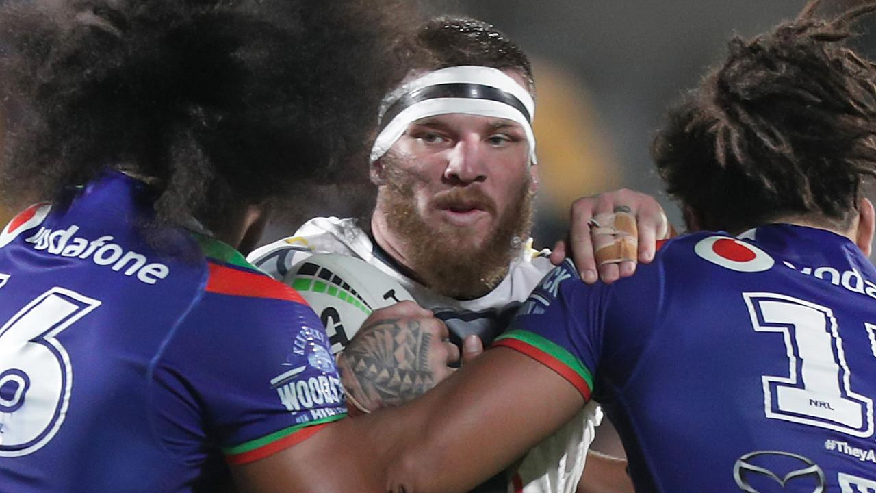 Josh McGuire was in the thick of it for the Cowboys. Image: AAP Image/David Rowland