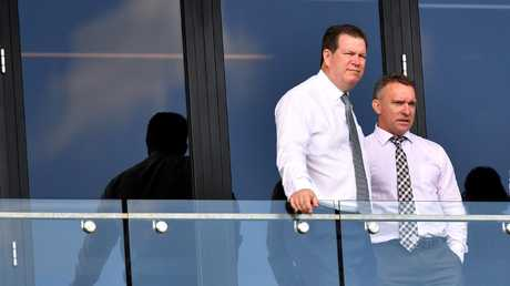 Brisbane chairman Karl Morris and CEO White are standing by their choice. Image: AAP Image/Darren England