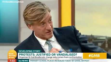 There are calls for Good Morning Britain host Richard Madeley to issue a public apology. Picture: Good Morning Britain