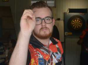Aaron Powell at the Rockhampton District Darts