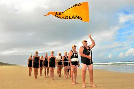 Ian Dundas and the Alexandra Headland crew prepare for the March Past.