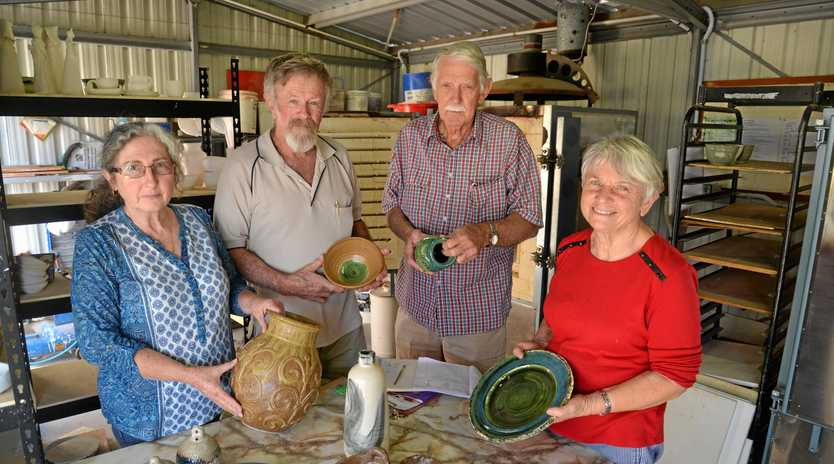 Jan and Rob Laws, Hugh Dearden and Sue Whitton are gearing up for the Heritage Week Pottery Exhibition.