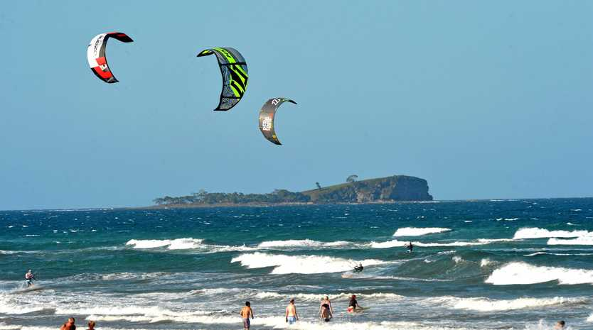 CLOSE CALL: A man sustained head and neck injuries after a kite surfing incident over the Easter break.