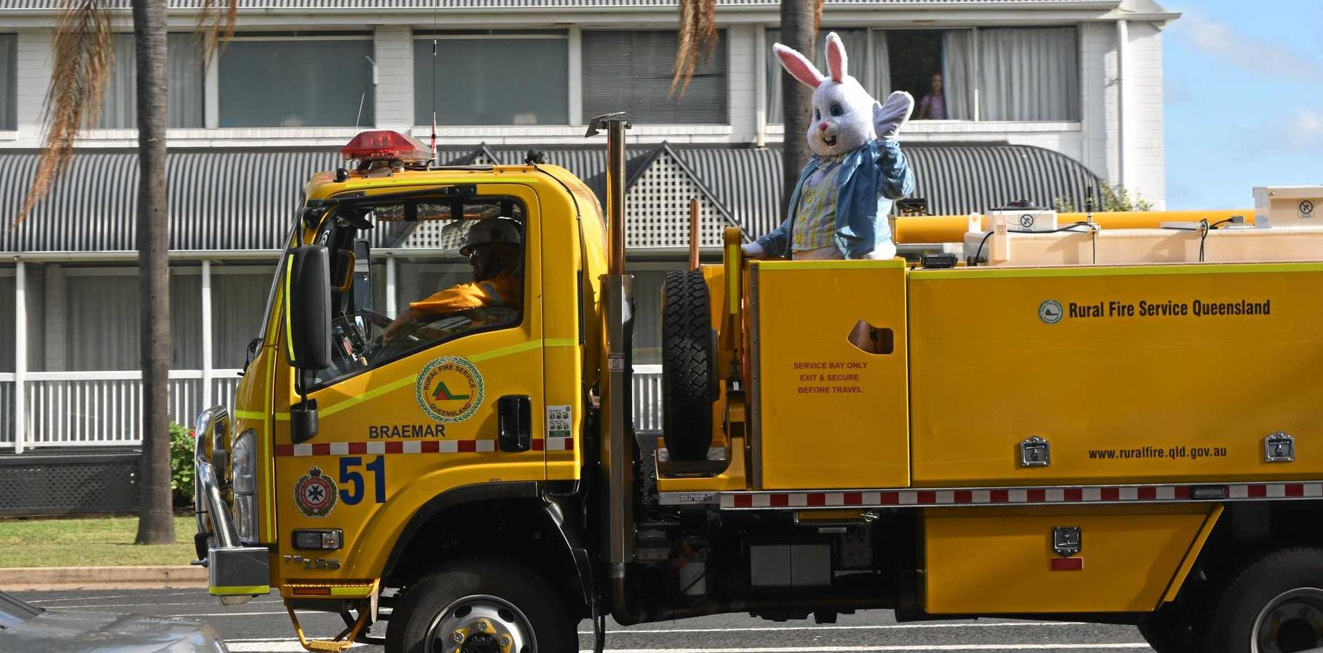 Our very own Easter Bunny came to Thomas Jack Park with his friends from the Braemar Rural Fire Brigade.