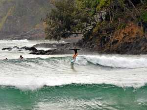 Swimmer nearly drowns in rough seas