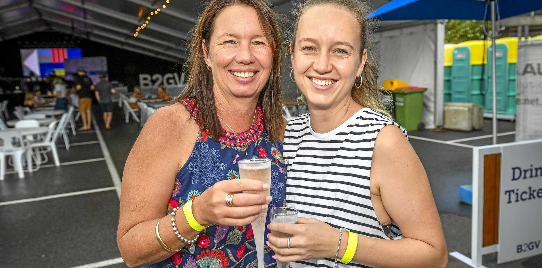 Gina and Georgia McLean at the 2019 Gladstone Harbour Festival's inaugural line honours party held at East Shores on Easter Sunday.