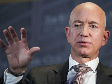 Jeff Bezos, Amazon founder and CEO, is in the middle of divorce proceedings with his ex-wife MacKenzie. Picture: AP Photo/Cliff Owen, File