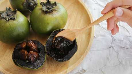 Australian Black Sapote or Chocolate Pudding Fruit.