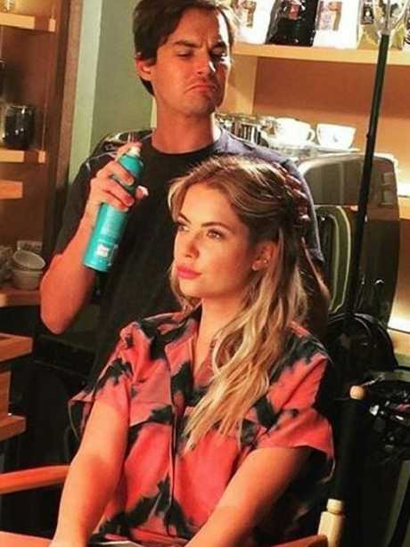 Tyler Blackburn and Ashley Benson. Picture: Supplied