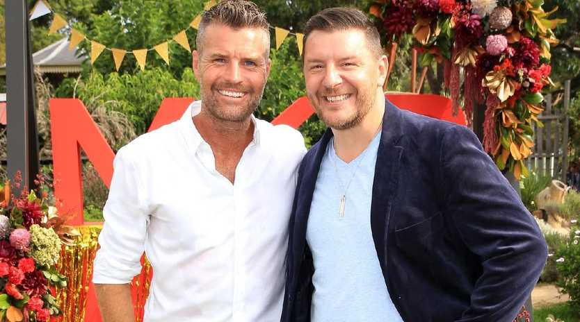 Pete Evans and Manu Feildel at the MKR 10th Anniversary Party held at the Acre Eatery in Camperdown. Picture: Christian Gilles