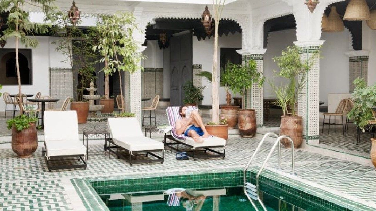 One of the world's most Instagrammable hotels is dirt-cheap. Picture: Rodamón Marrakech