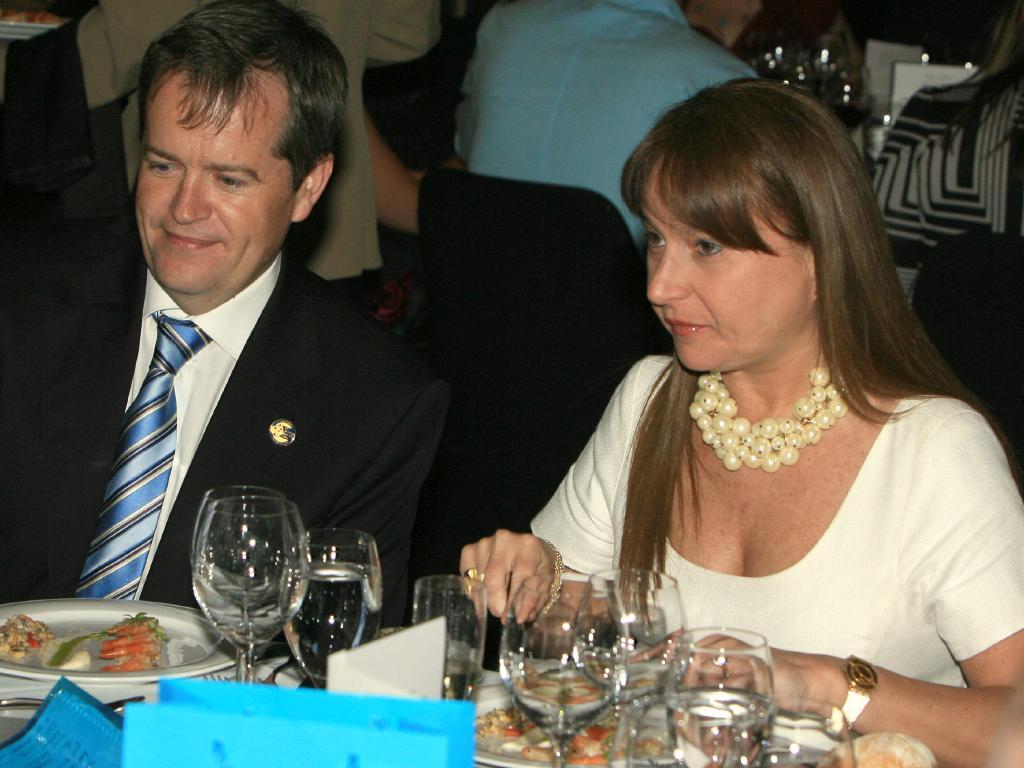 Both were married when they met, Mr Shorten to wife Deborah Beale.