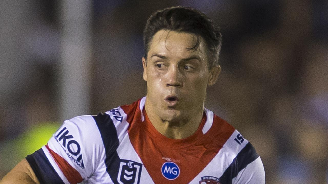 Cooper Cronk of the Roosters during the Round 5 NRL match between the Cronulla Sharks and the Sydney Roosters at Points Bet Stadium in Sydney, Saturday, April 13, 2019. (AAP Image/Craig Golding) NO ARCHIVING, EDITORIAL USE ONLY